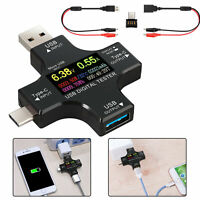 USB Type C Power Meter Tester LCD Digital Multimeter USB Cable Charger Indicator