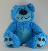 "Kellytoys 10"" Blue Teddy Bear Mint Condition Super Soft"