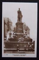 Vintage B/W Postcard Kingsway Real Photo Series - STEPHENSON MONUMENT - 1924