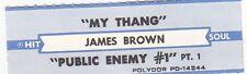 Juke Box Strip James Brown - My Thang / Public Enemy #1
