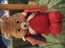 Vintage Teddy Ruxpin Bear Worlds of Wonder Teddy Taped Lullabies Not Tested