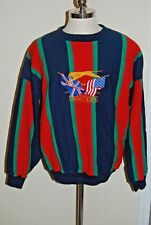 90s Vintage Slazenger Golf Stitched Blue Red Sweatshirt Striped Size XXL