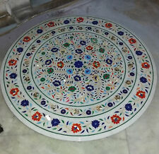 "42"" dinner dining coffee center round lunch inlay malachite table top i2"