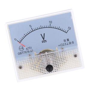 85C1 DC 0-15 V Analog Panel Ampere Meter Gauge Voltage Tester