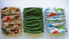 3 pk Male MEDIUM Dog Diaper Camping Bugs Belly Band Elastic Wrap 13 14 15 16 in