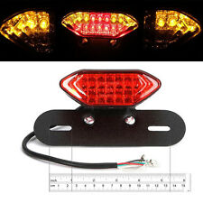 12V Motorcycle LED Tail Light Red Len Fits Yamaha WR250R XT250 TW200 Dual Sport