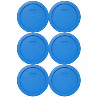 Pyrex 7201-PC Marine Blue Plastic Storage Replacement Lid Cover (6-Pack)