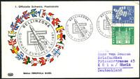 """Schweiz 1961 """"1. Schweizer Postrakete"""", gelaufen nach Köln"""