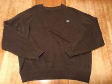 CHAMPION Men Shirt Brown Crewneck Pull-over Sweater Men's XL