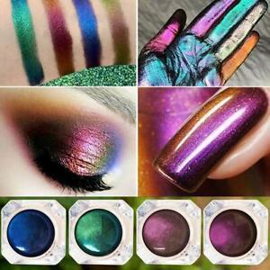 Chameleon Prismatic Eye Shadow Multi Chrome Palette Pigment Glitter Shiny Makeup