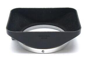 Konica 24mm 28mm Black Metal Clip On Lens Hood - UK Dealer