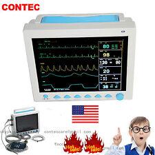 US stock ICU Patient Monitor 6 parameter Vital Sign ECG NIBP RESP TEMP SPO2 Pr