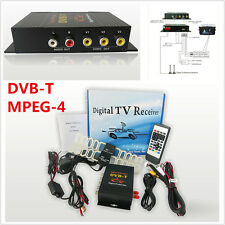HD DVB-T MPEG4 TV Receiver Box Tuner 4Way Dual Antenna Car Mobile Digital TV Box