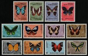 Papua-Neuguinea 1966 - Mi-Nr. 83-94 ** - MNH - Schmetterlinge / Butterflies (II)