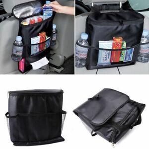 Car Auto Seat Back Multi-Pocket Storage Bag Organizer Holder Travel Hanger Black