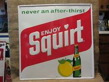 HUGE Vintage 1971 Stout Embossed Metal Squirt Sign Antique Nice Color Cola 9364