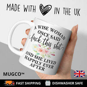 Birthday Gift Adult Rude 21st 30th 40th 50th Mug Wise Best Friend Sister Wife