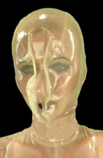 Transparent Latex Rubber head Hood Outfit With Open Nostrils Uisex for Men Women