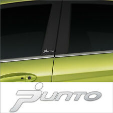 2 X FIAT PUNTO CHROME VINYL DOOR PILLAR STICKERS DECALS GRAPHIC ADHESIVE CAR MOD