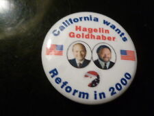 California Reform Party Pin Back Presidential Campaign Button Hagelin Political