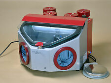 Dental Lab Sandblaster Fine Blasting Unit LED Light Four Pen Four Tank AX-B5