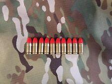 10- 40 S&W Premium HI VIZ snap caps for training drills 3 gun free ship RED TIP