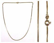 COLLANA MAGLIA GRUMETTA Catenella PIATTA Catena 333 ORO collier in 50 cm
