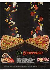 PUBLICITE ADVERTISING 2011 SODEBO pizza SO généreuse