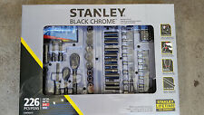 Stanley 226 Piece Mechanics Mixed Tool Set in Black and Chrome with Hard CaseNEW