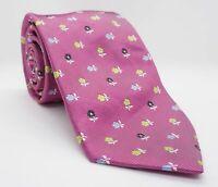 Batistini Krawatte Rosafarben Floral 100%Seide 148cm x 8.5cm -KG239