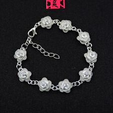 Betsey Johnson Fashion Jewelry Delicate Flower Diamante Bangle Bracelet