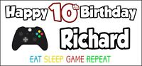 Xbox Controller 10th Birthday Banner x 2 Party Decorations Boys Girls ANY NAME