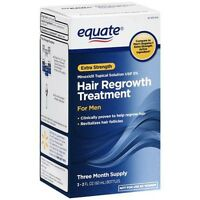 Equate Men's Hair Regrowth Topical Solution 5% Minoxidil. 3 Months Supply. 2020