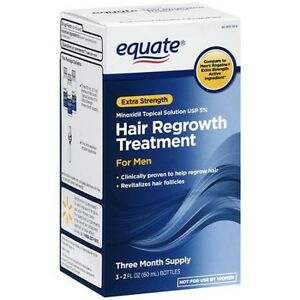 Equate Men's Hair Regrowth Topical Solution 5% Minoxidil.3 Months Supply, 2023