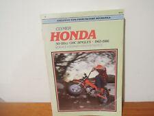 Clymer Honda 50-110cc OHC Singles 1965-1986  Service Repair Maintenance