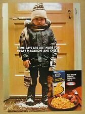 1979 Kraft Macaroni Mac & Cheese boy snowy boots jacket photo vintage print Ad