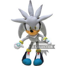 SONIC SILVER THE HEDGEHOG 32 CM PELUCHE pupazzo plush grigio great grey figure
