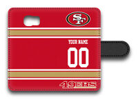 NFL San Francisco 49ers Personalized Name/Number Samsung Phone Wallet Case153108