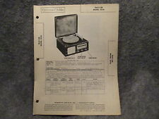 Sams Photofact Folder #19 From Set #54 Trav-ler Model 5036 Phonograph Radio