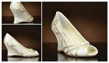 New 75%OFF BENJAMIN ADAMS Ivory Duchess Silk UK4/4.5 Wedding Heels Shoes RP£169