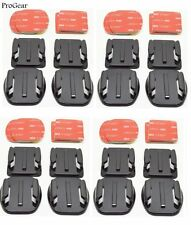 Set of 8 Flat and 8 Curved Mounts With Adhesive Pads For GoPro HERO 1/2/3/3+/4