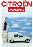 CITROEN Acadiane Dyane Van 1987 French market Sales Brochure