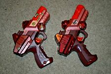 Lazer Tag Team Ops Drone Blaster Laser Gun IRT-2X Tiger Electronics LOT 2 TESTED
