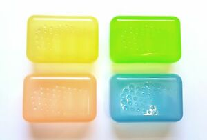 2 X Plastic Soap Travel Box Dish Holder Bathroom Caravan Holiday Home Container