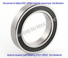 ROULEMENT A BILLES hybride ceramique 12X18X4 6701 2RSC (1pc Ceramic hybrid SI3N4