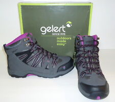 Gelert Ottawa Mid Women's Hiking Shoes; Charcoal/Purple; Size 9; Retail $64.99