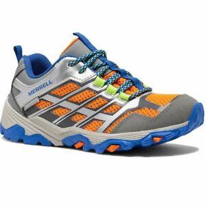 Merrell M-MOAB Fast M WTPF grey/silver/orange, basket de marche garçon