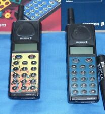 2 x Ericsson GA 628 Vintage/Retro Mobile phone with chargers & accessories