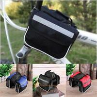 Cycling Bike Bicycle Pouch Front Tube Pannier Frame Bag Saddle Bag Phone Holder