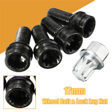 4+1 Set 17mm Wheel Bolt & Lock Lug Nut Fit For VW Golf Jetta Beetle Passat/Audi